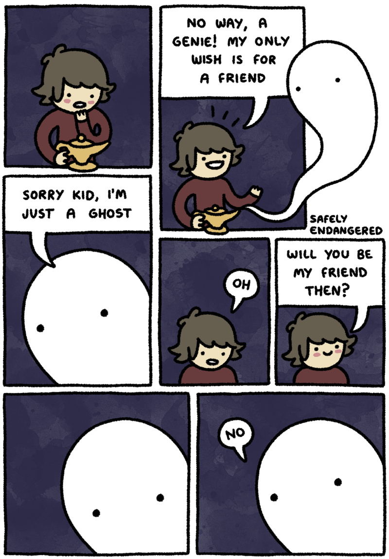 Ever heard of a mean ghost?