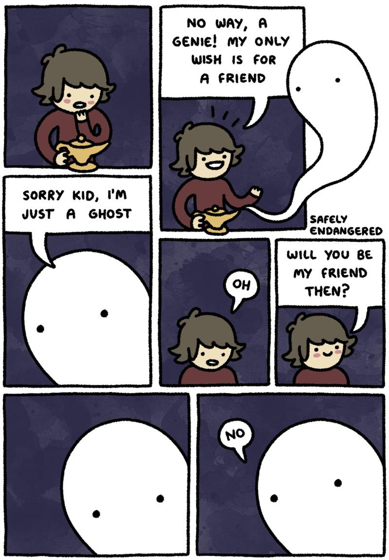 Ever heard of a mean ghost? - meme