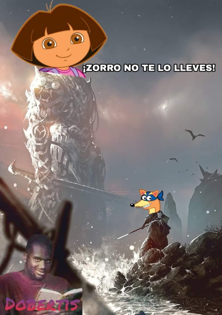 Dora es mas fuerte que el zorro :0 - meme