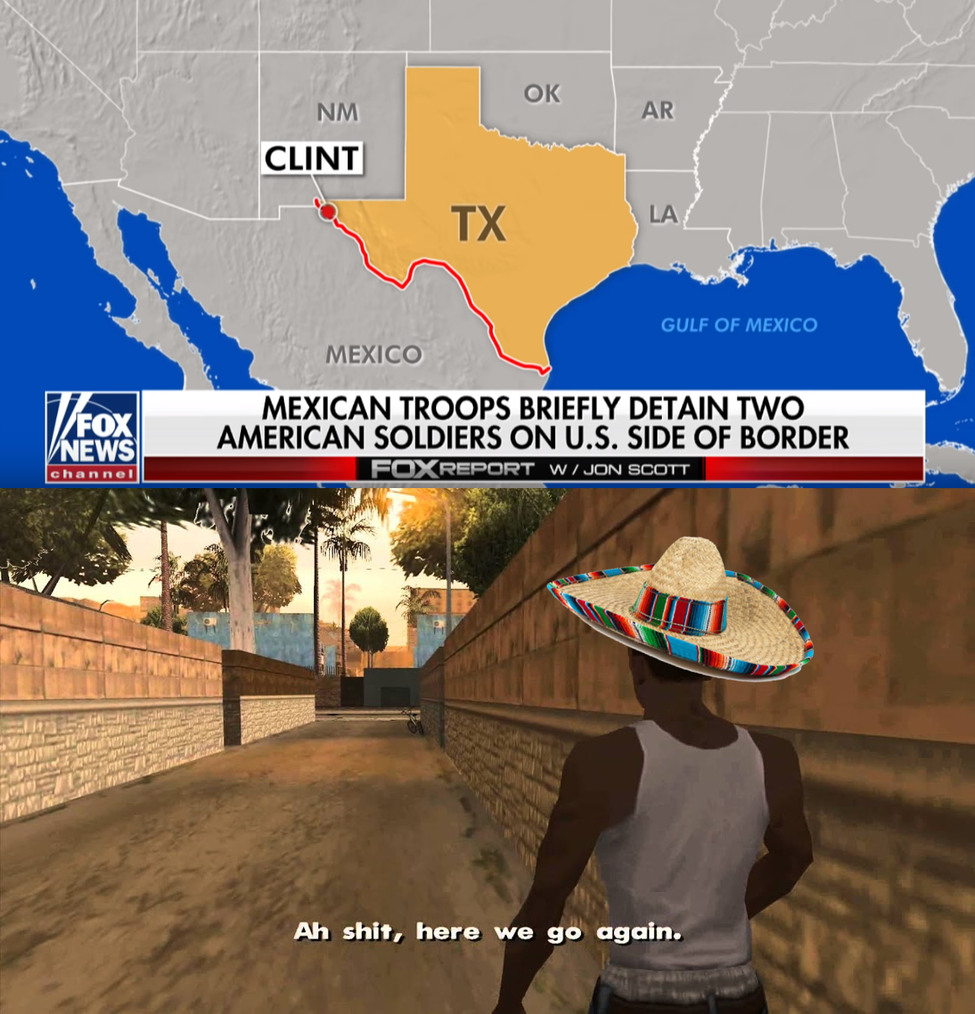 Mexican American War II: Caravan Boogaloo - meme