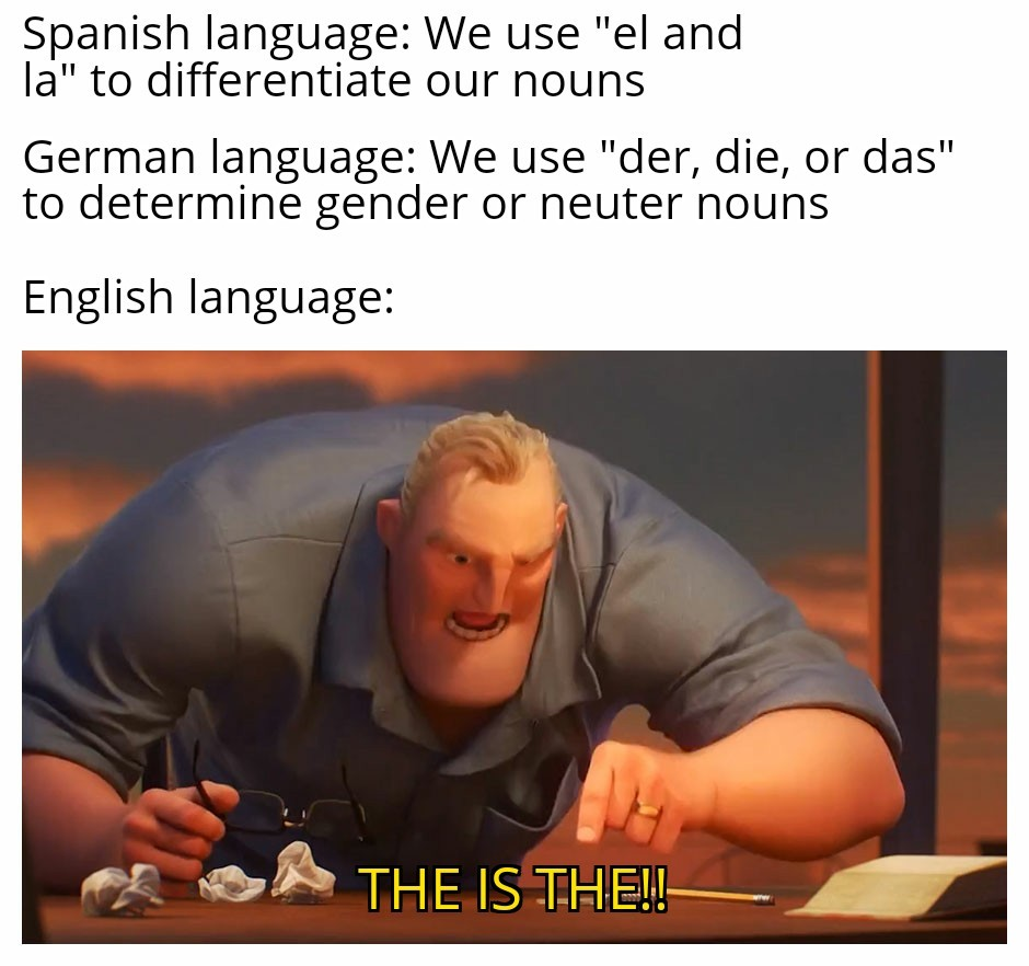 English: the lazy man's Latin - meme
