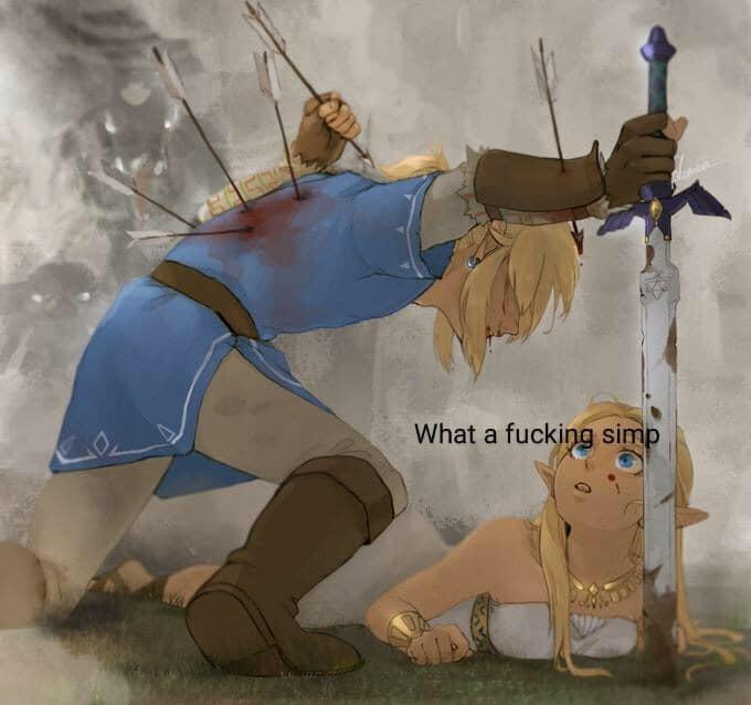Link be simping - meme
