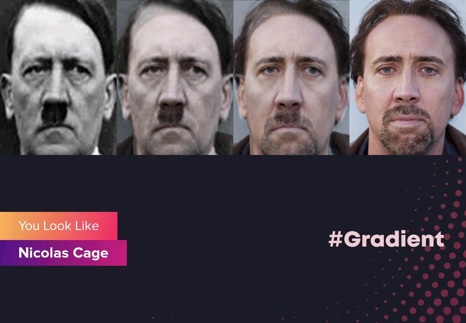 Watefak hitler es nicolas cage impresionante - meme
