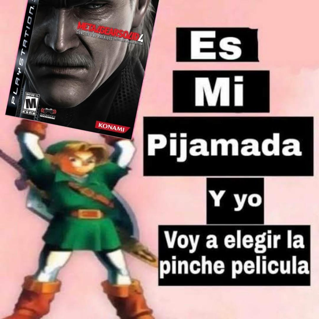 Metal Gear 4 tiene un Guiness por sus cinemáticas - meme