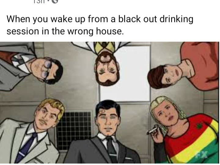 Blackout in the red room - meme