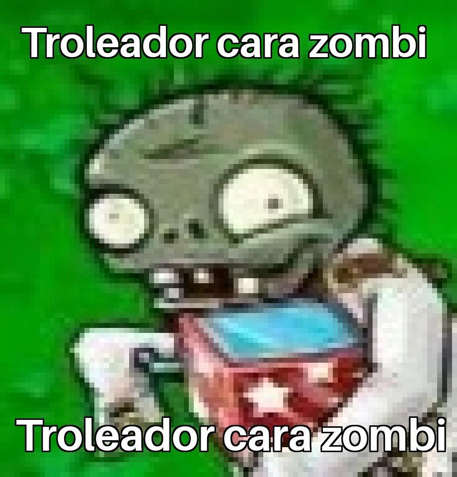 Troleador cara zombi - meme