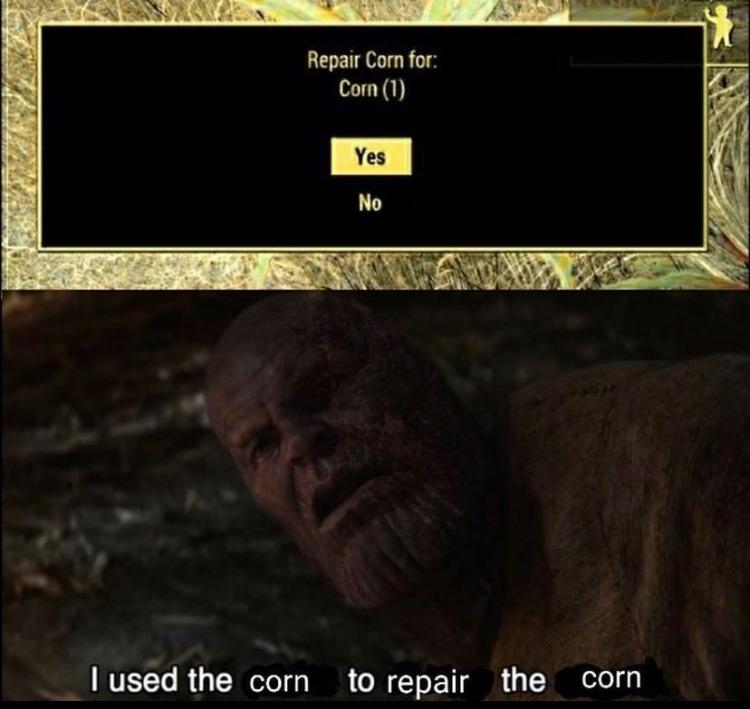 repair corn - meme