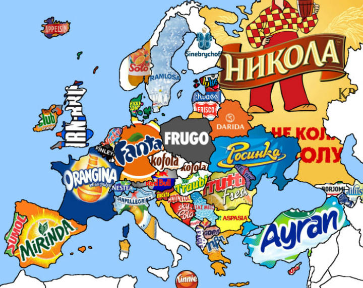 Soft drinks around Europe - meme