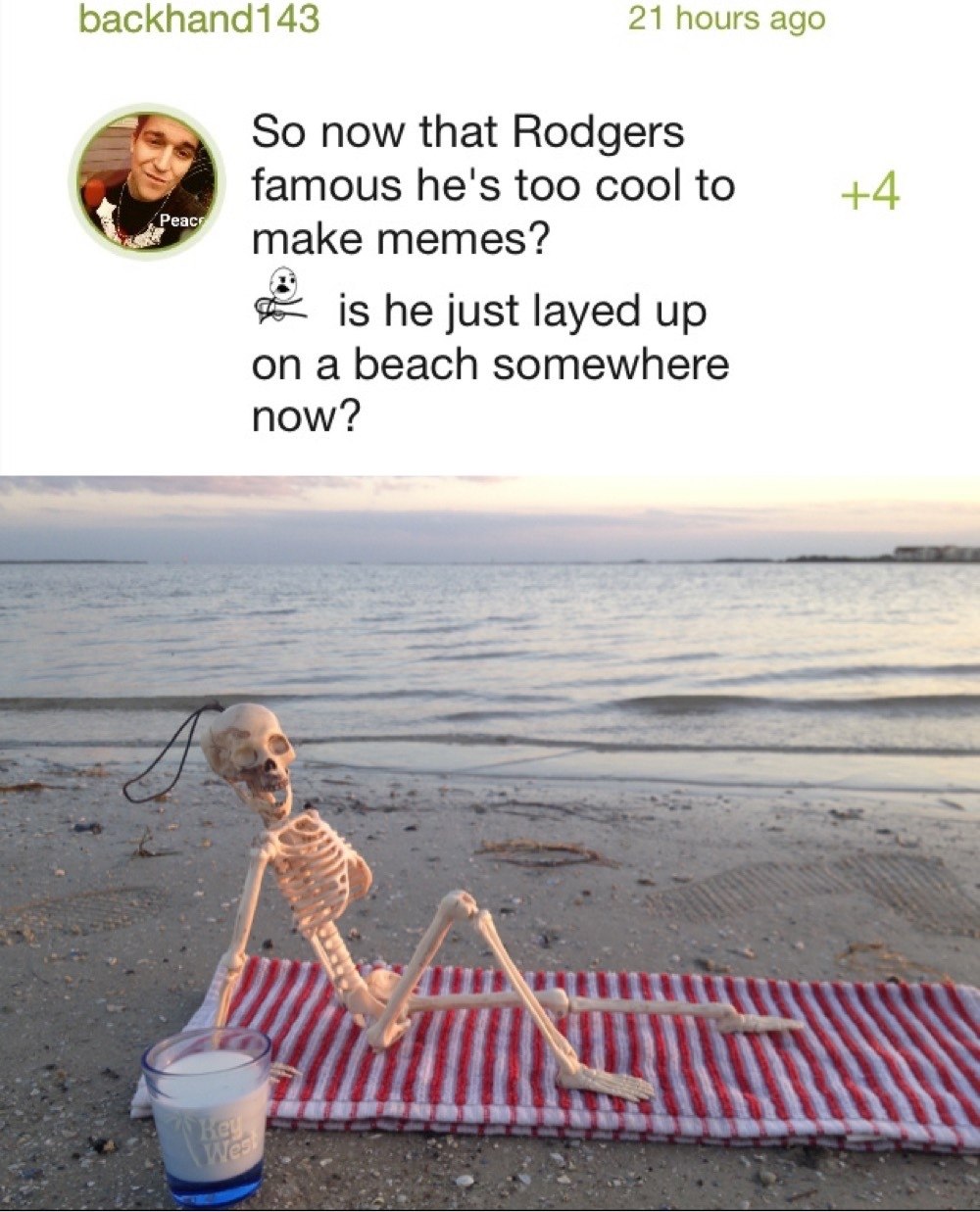 Relaxing after the Skeleton War - meme