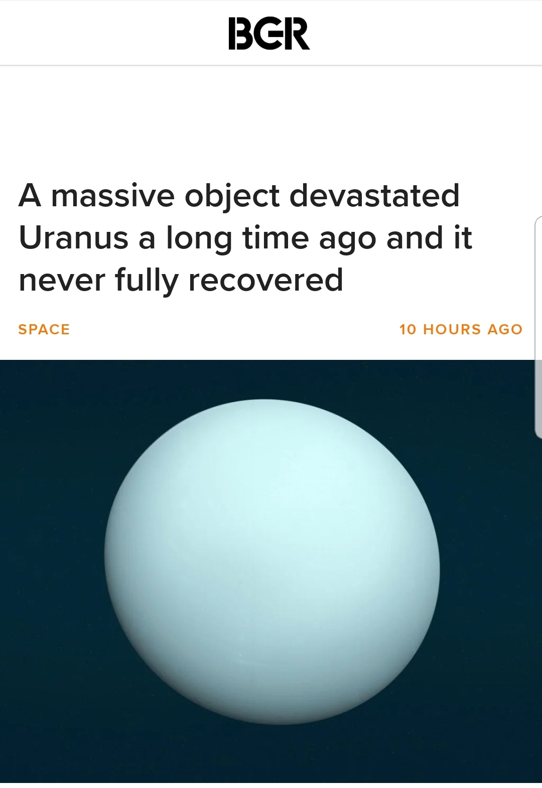 Right in Uranus - meme