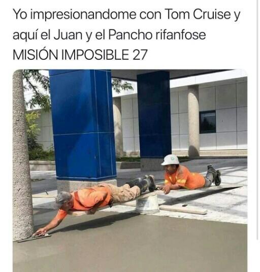 Mision imposible nivel: albañil - meme