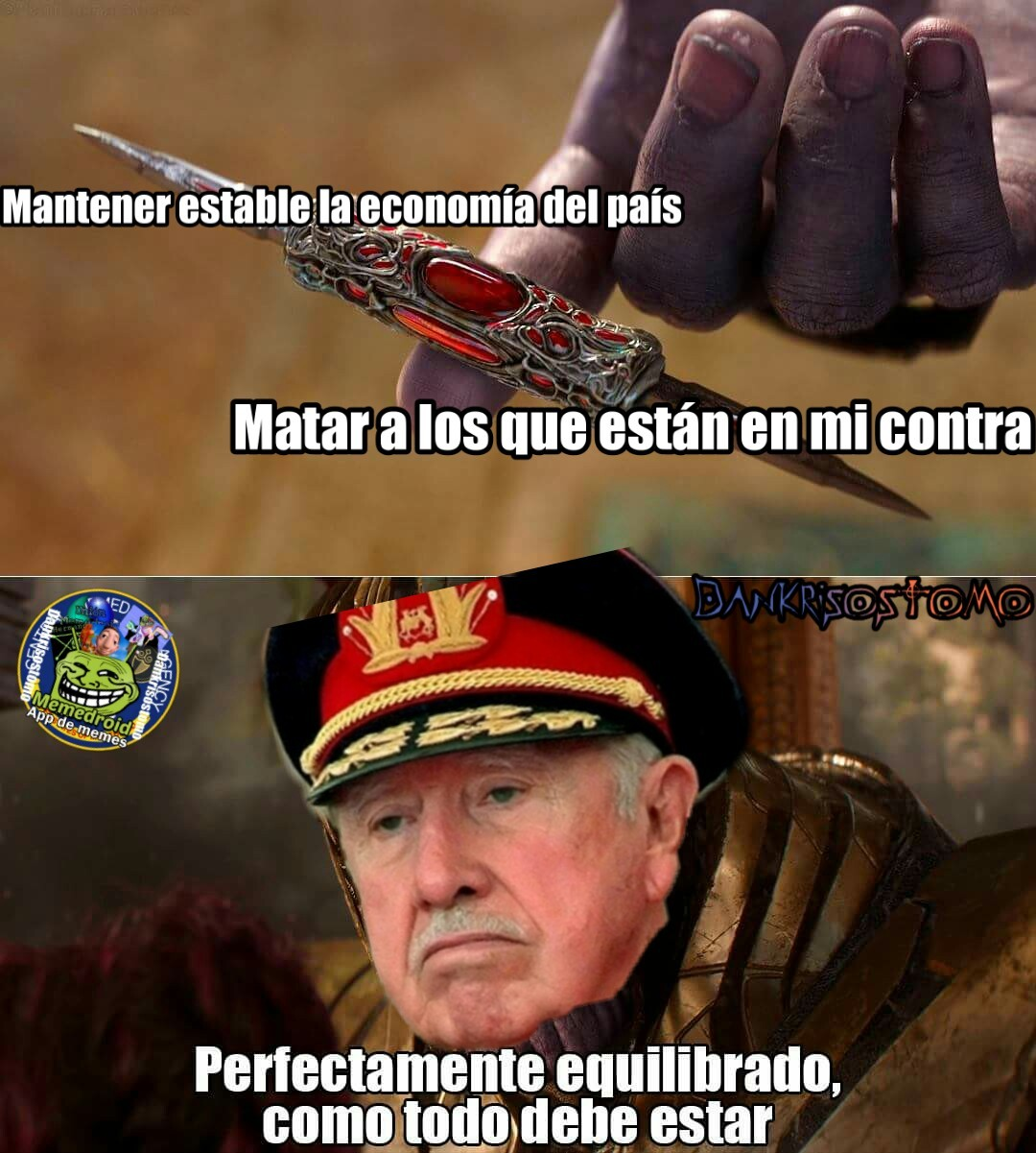 Pinocho pinochet - meme