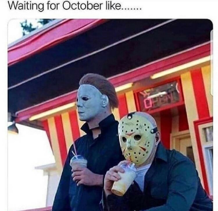 Waiting for spooky time - meme