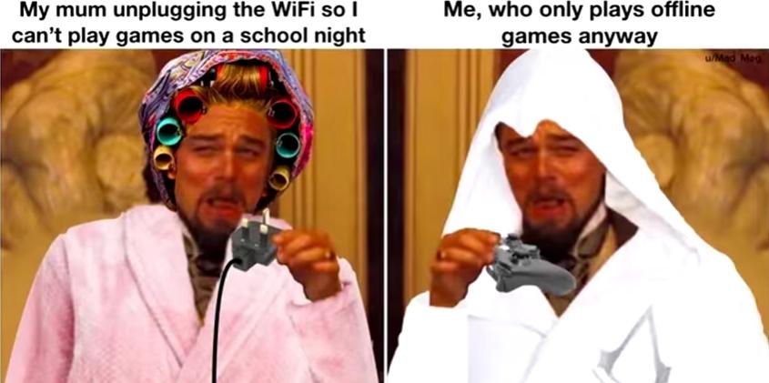 Offline games come on clutch - meme