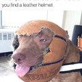 Quando voce acha um leather helmet ... -5 carisma