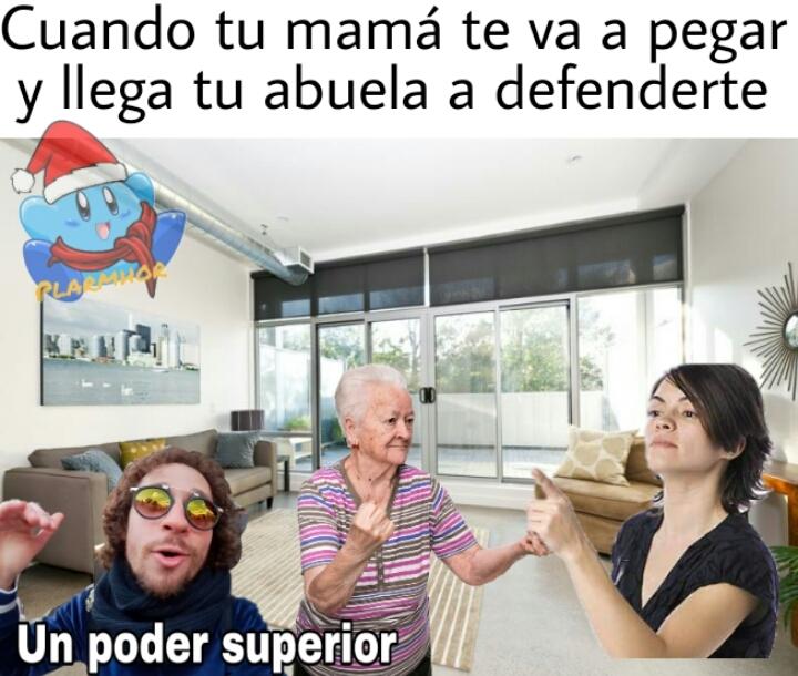 Abuela al rescate - meme