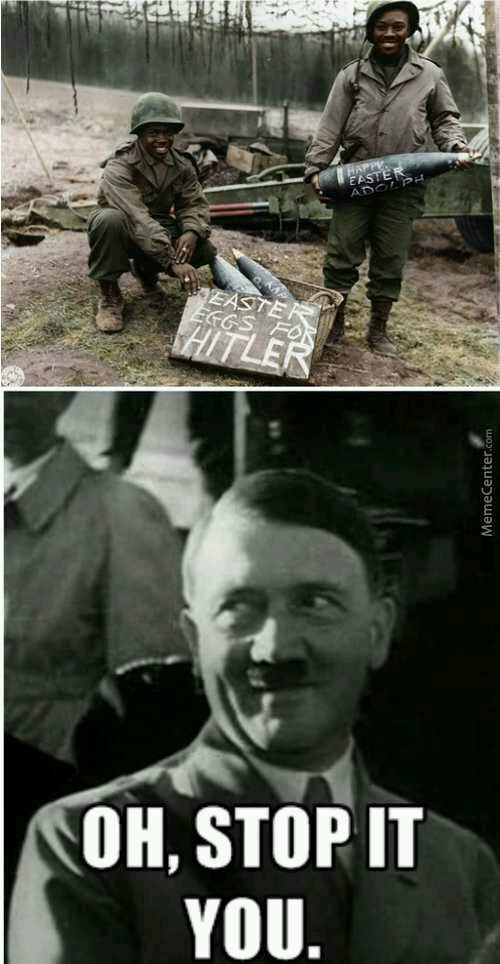Hitler has a suprise for the Jews - meme