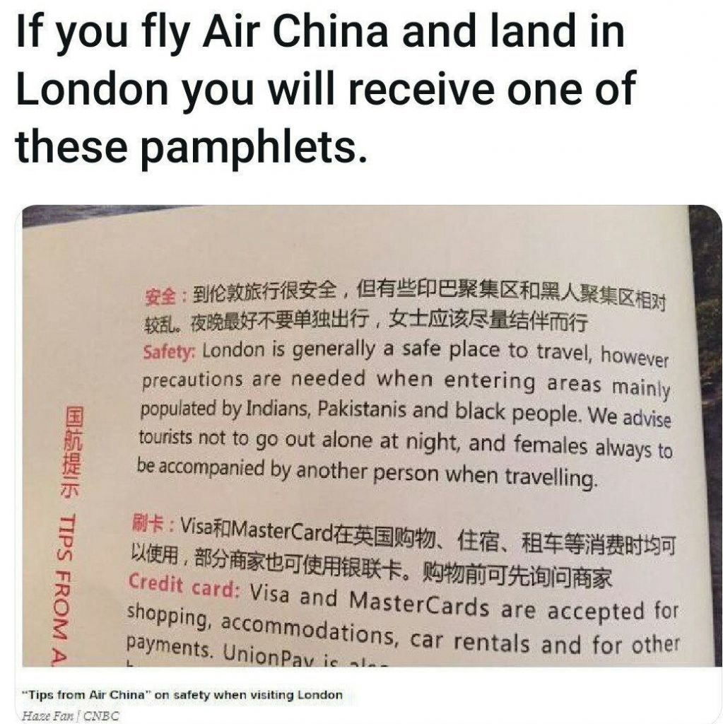 Saying China virus is racist, but China is the world's most xenophobic culture lulz - meme