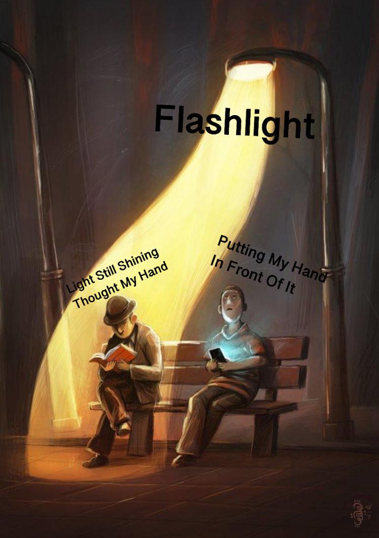 Flashlight - meme