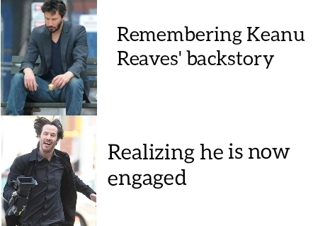 Keanu Reeves is now engaged! - meme