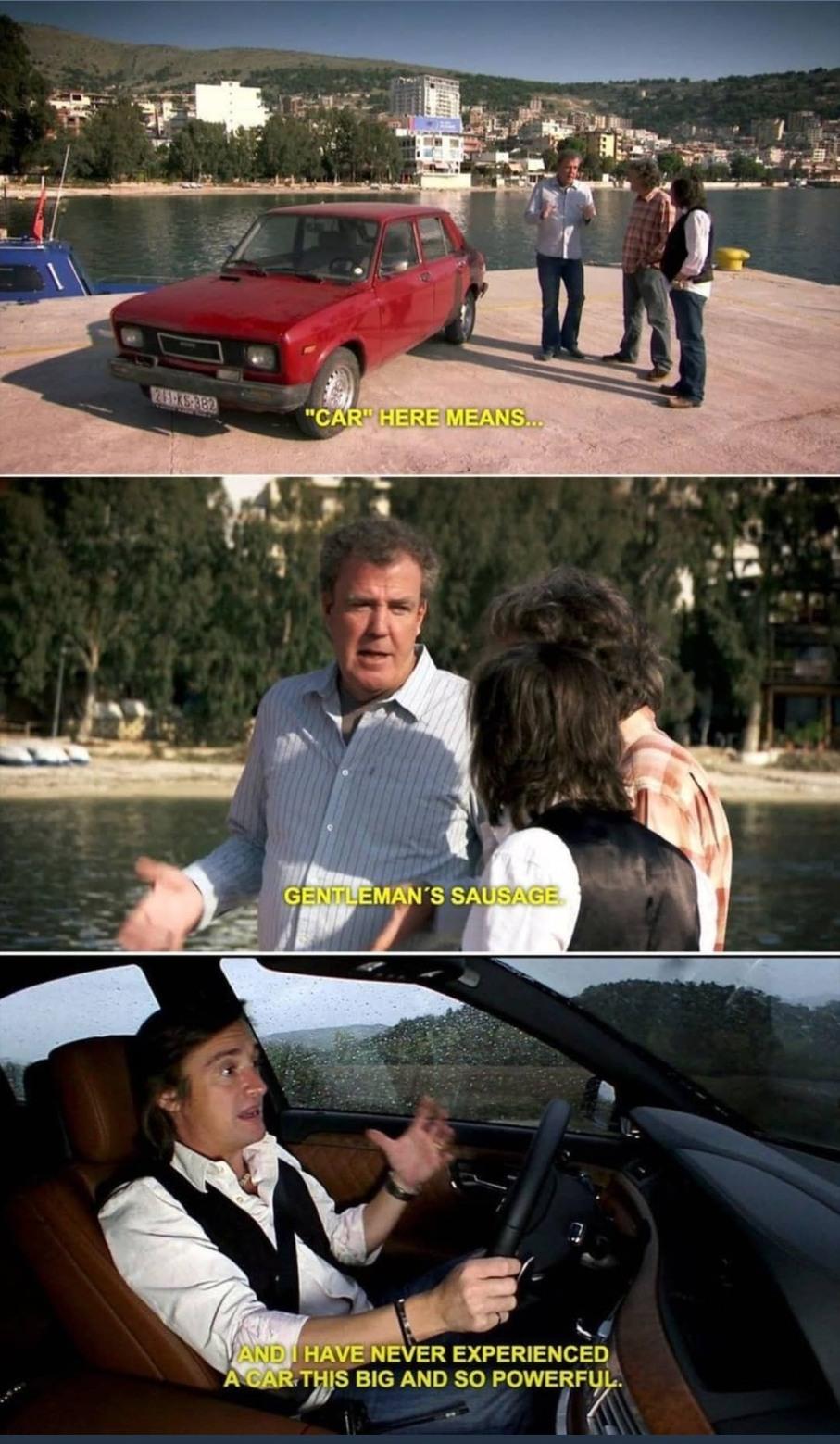 A man's car is his pride - meme