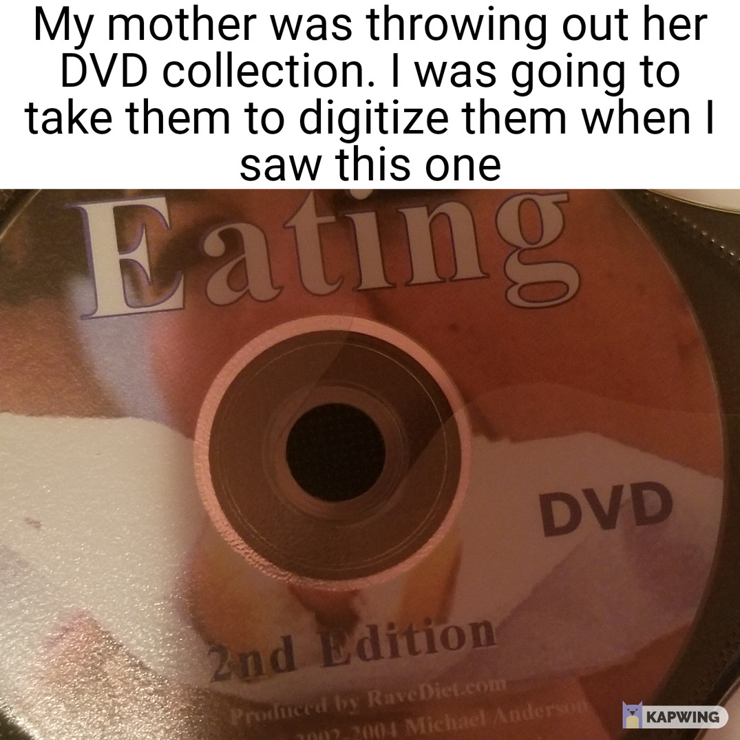 I didn't know there was a eatting first edition - meme