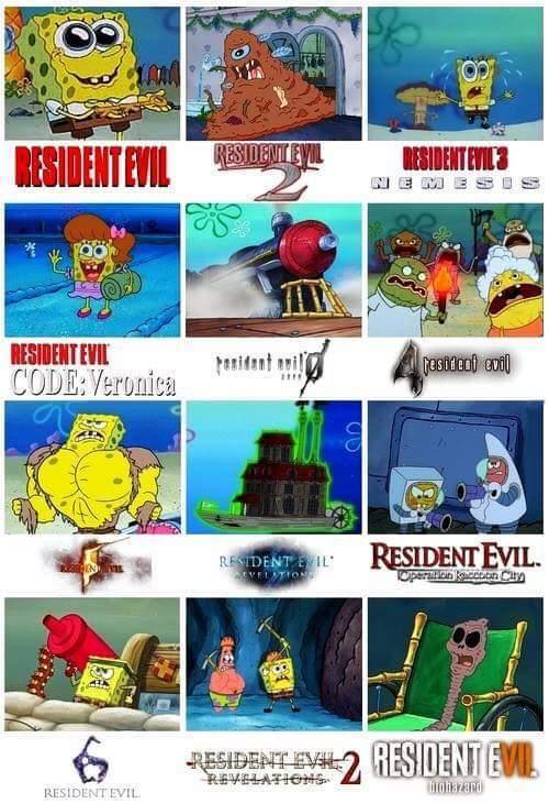 Resident evil no :/ - meme