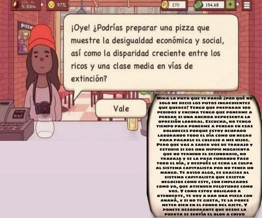 Hippie pidiendo pizza - meme