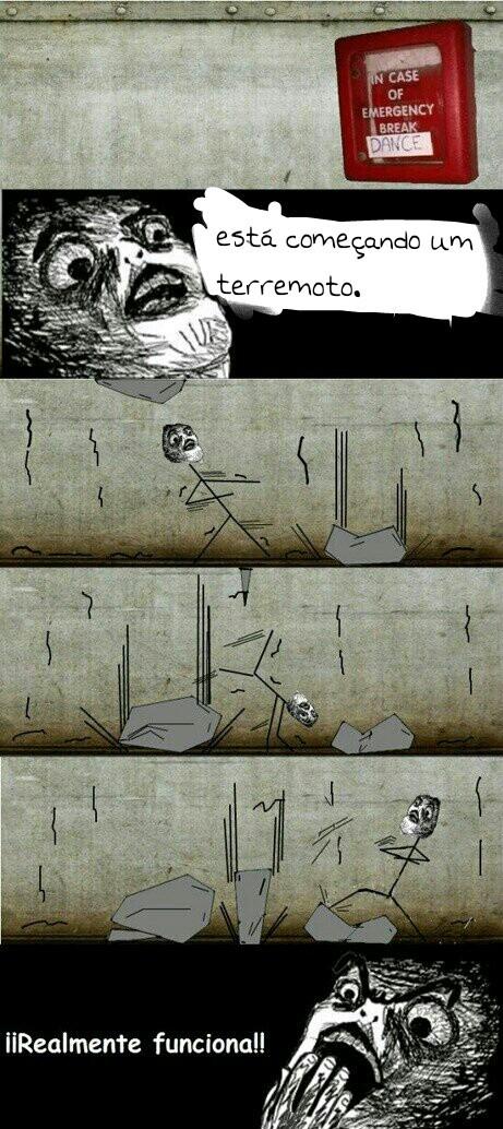 Em caso de terremoto.... dance - meme
