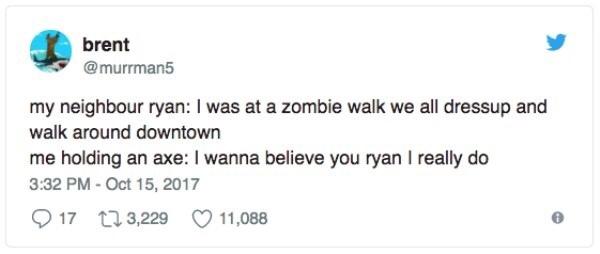 I swear, I thought he was a zombie officer... - meme