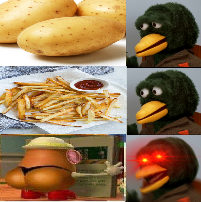 Thicc potato - meme