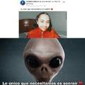 Parece un alien xD