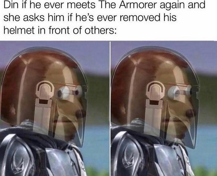 didn't the armorer die? - meme