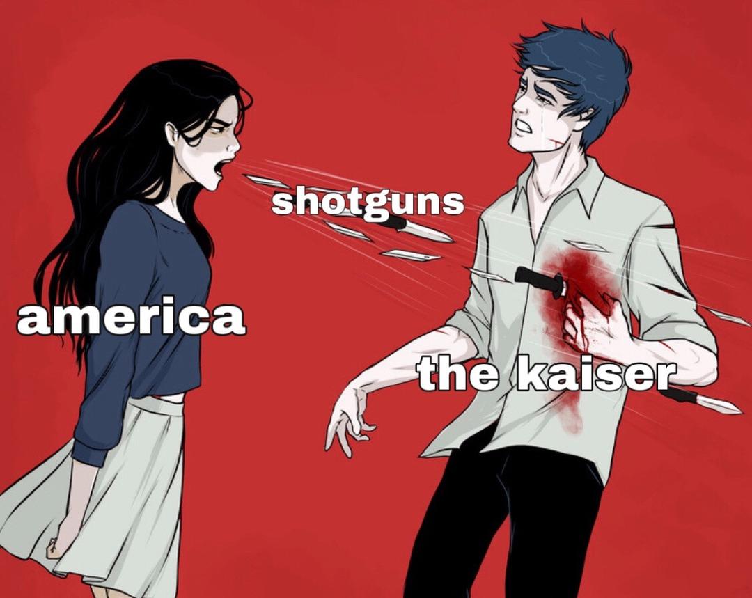 the kaiser didn't like that one :( - meme