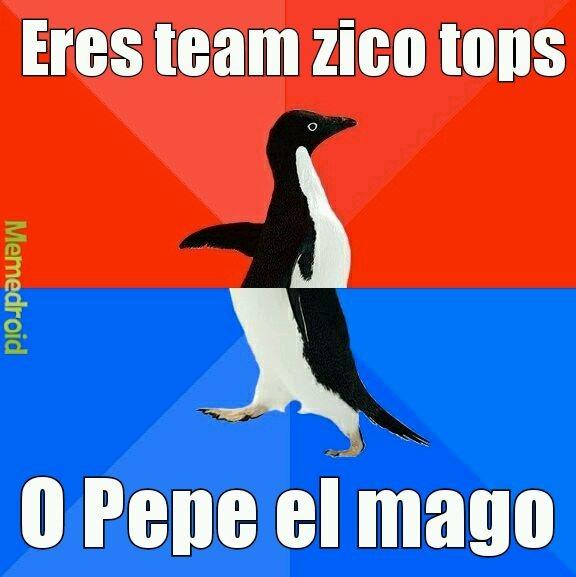 Pepe el mago vs zico tops - meme