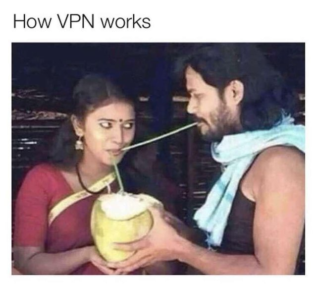 How VPN works - meme