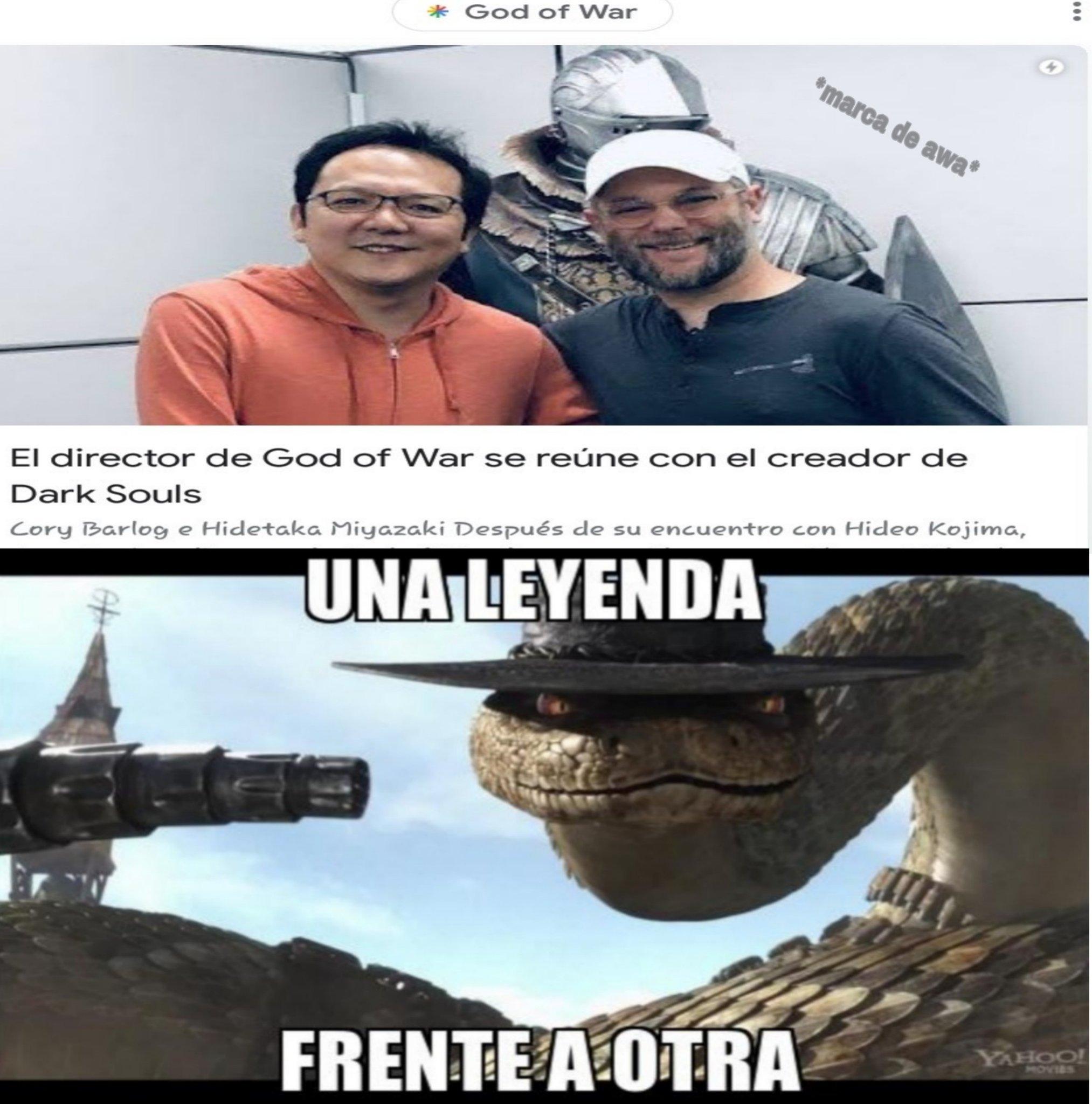 Dos grandes heroes - meme