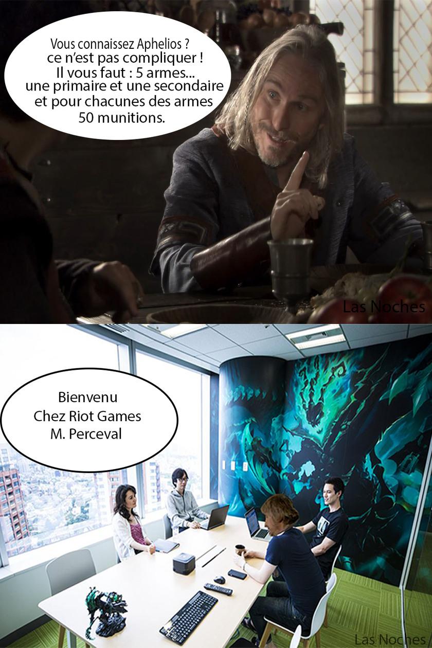 Perceval chez Riot Games - meme