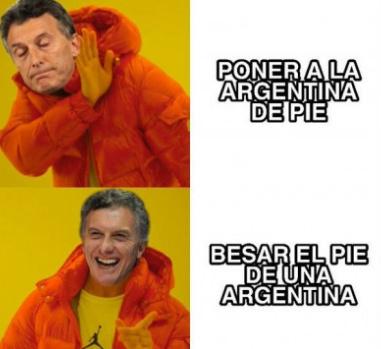 En Argentina nos refugiamos en las llamas del infierno,en vez de huir de ellas - meme