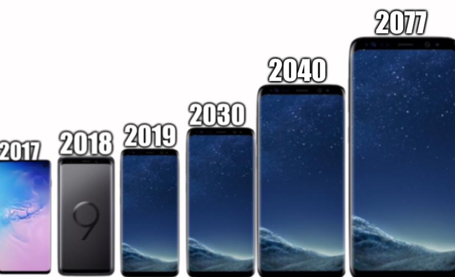 Evolución de Samsung galaxy - meme