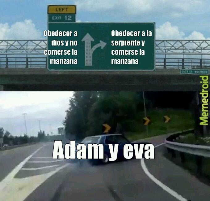 Adam y eva - meme