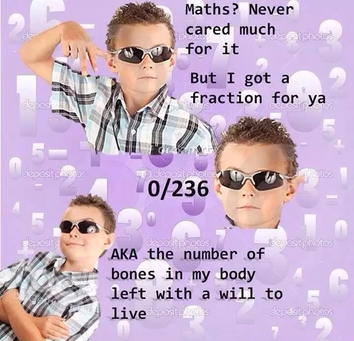 Never cared too much for math - meme