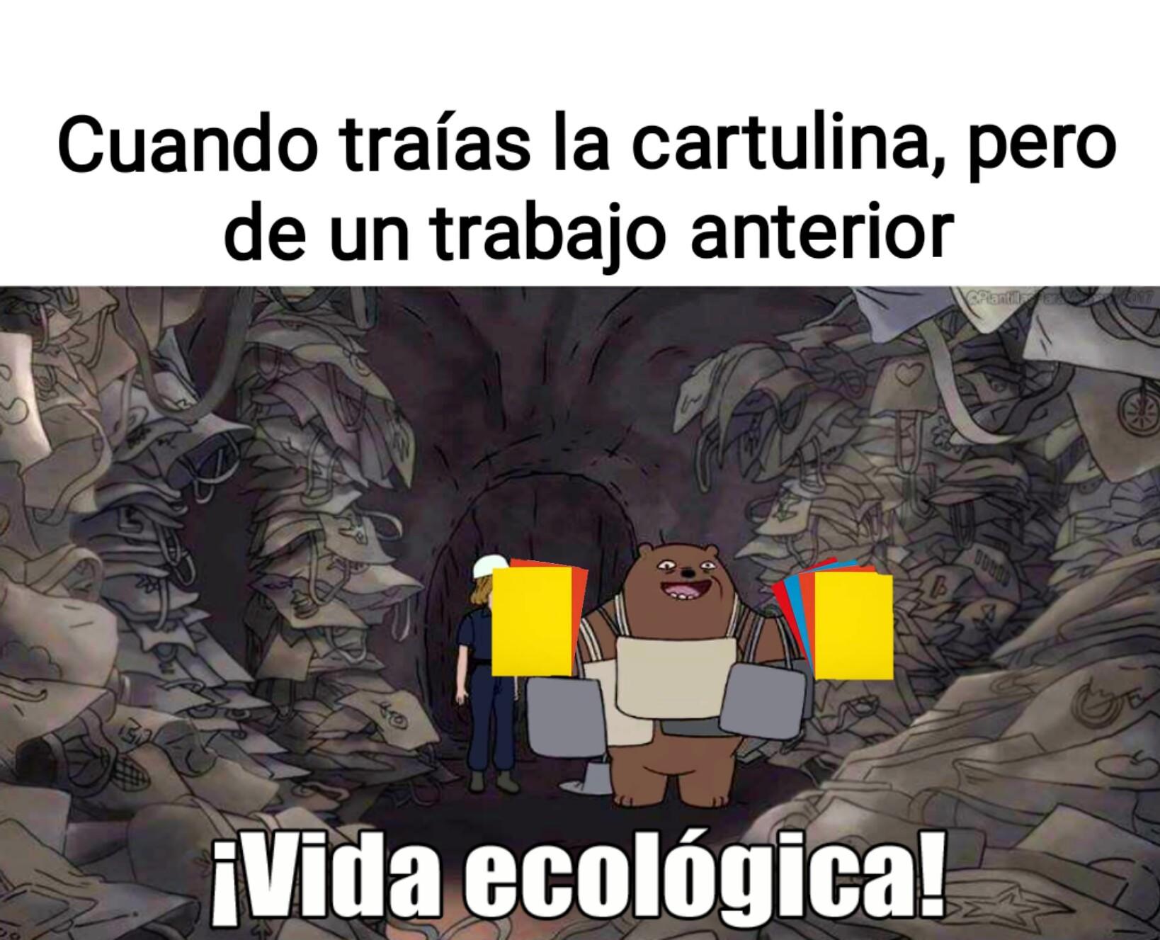 Vida ecológica - meme