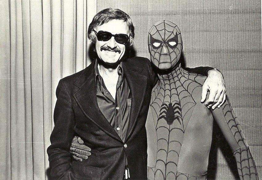 Stan Lee and Spider-Man - meme