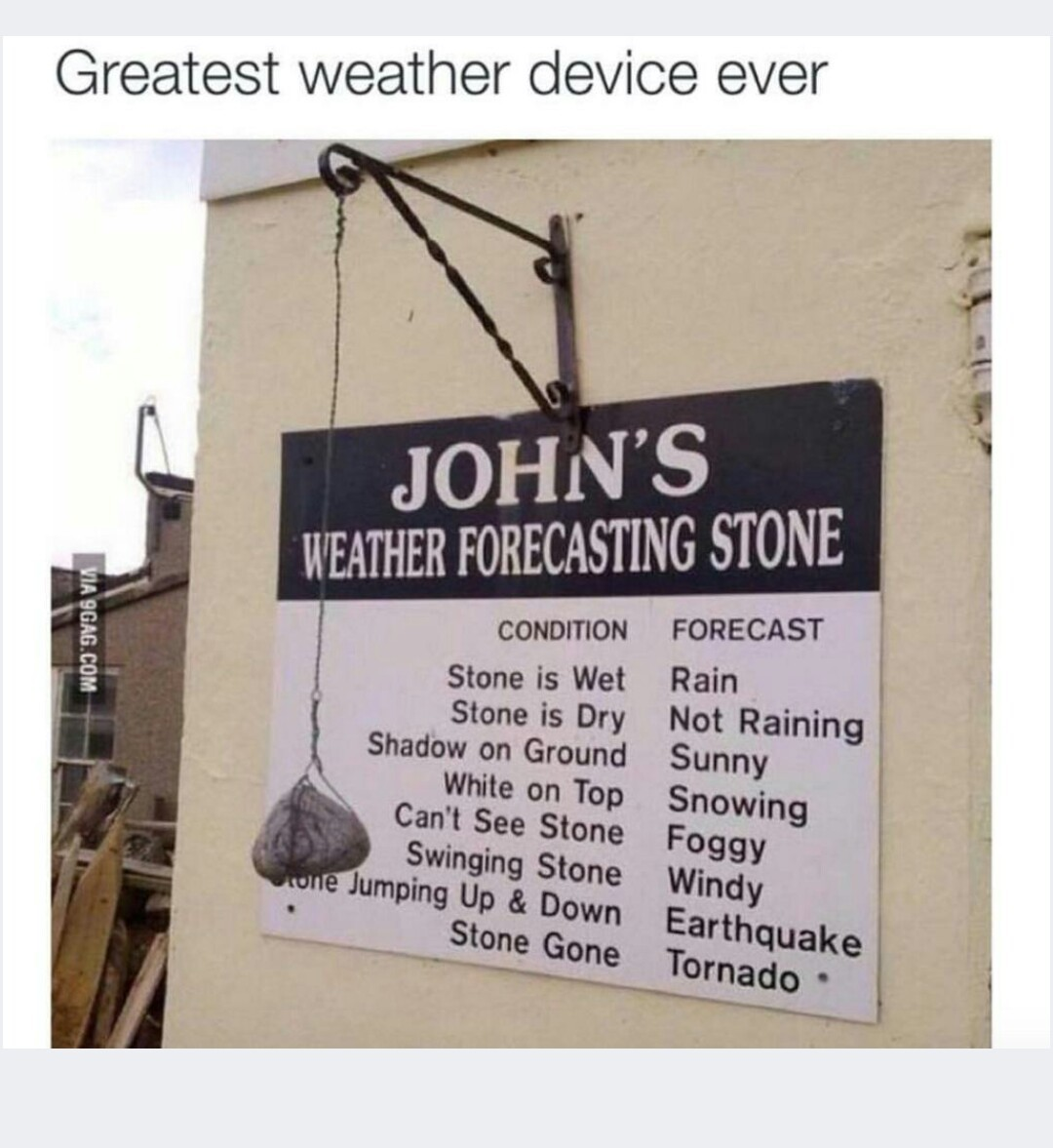 The best weather device, ever... - meme