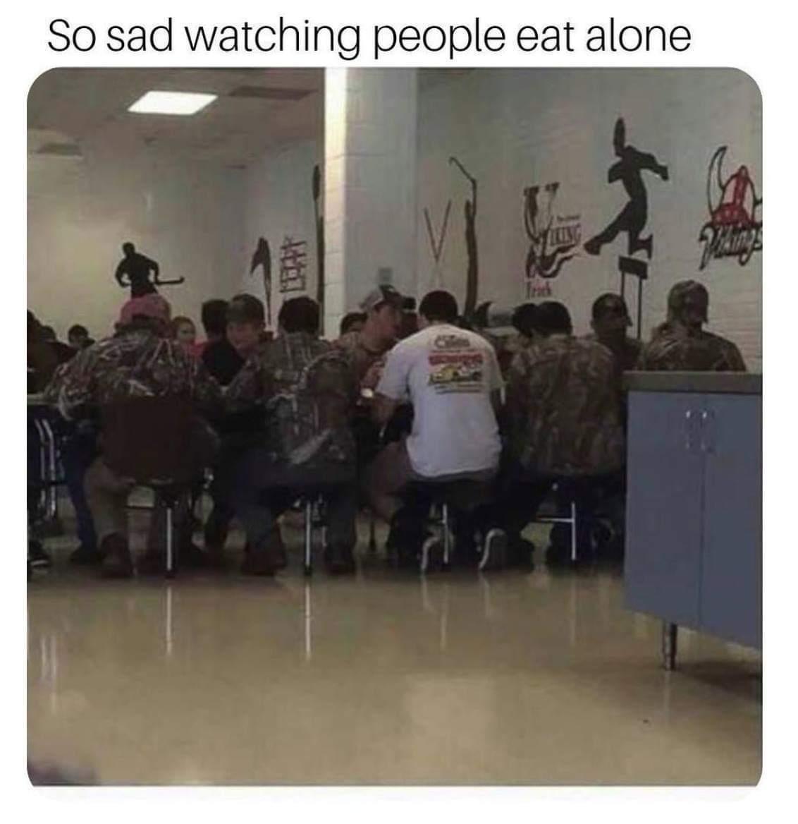 Type F for this loner - meme