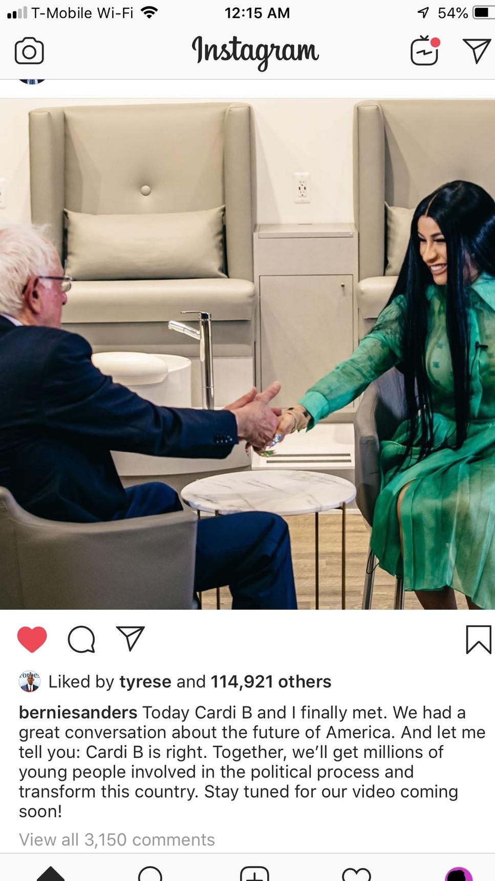 cardi Bernie - meme