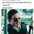 38 C is 100.4 F