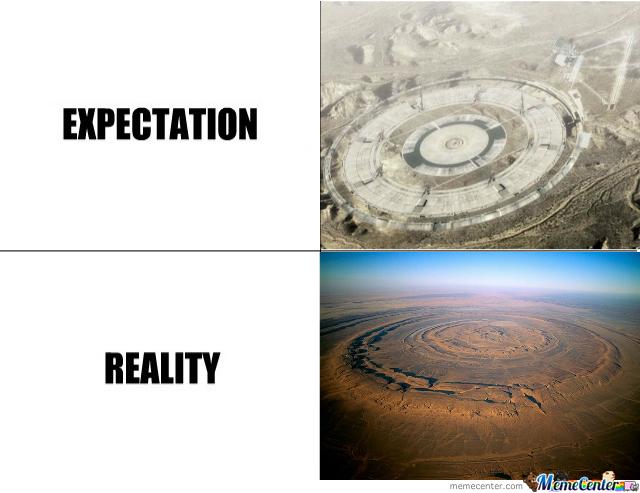 ace combat meme (stonehenge reality vs expectation)