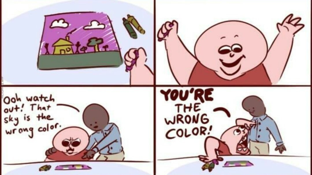 Your mom's the wrong color - meme